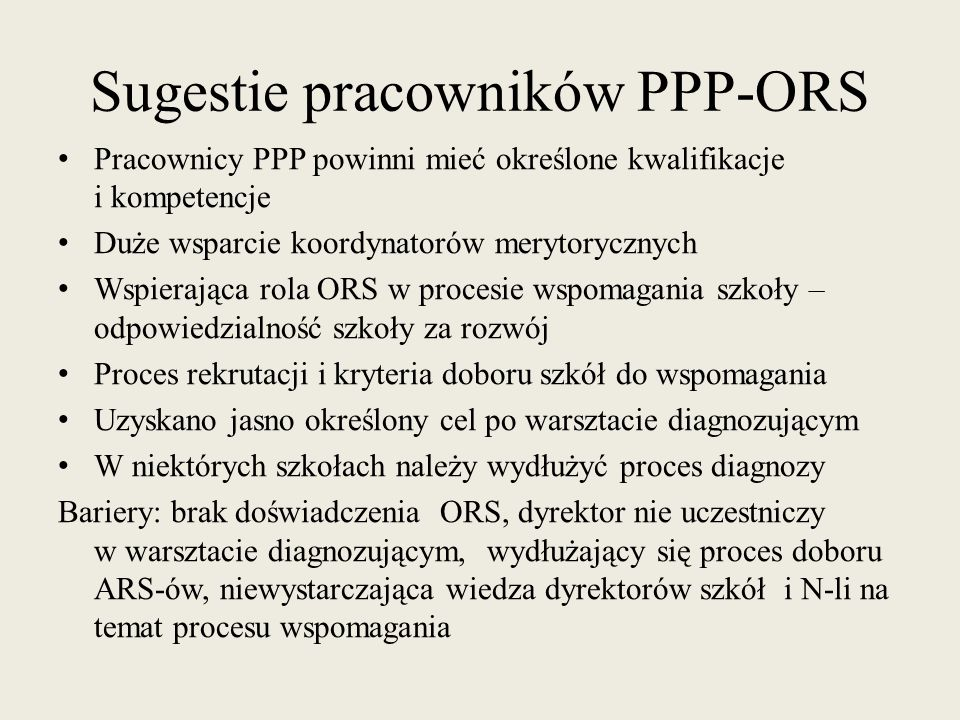 Sugestie pracowników PPP-ORS