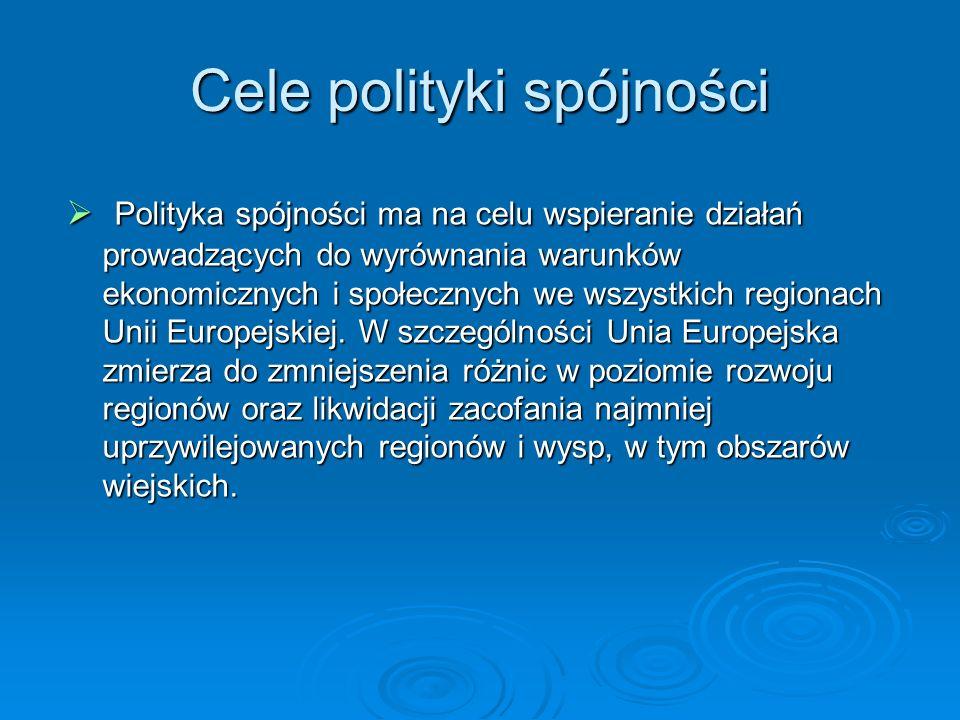 Cele polityki spójności