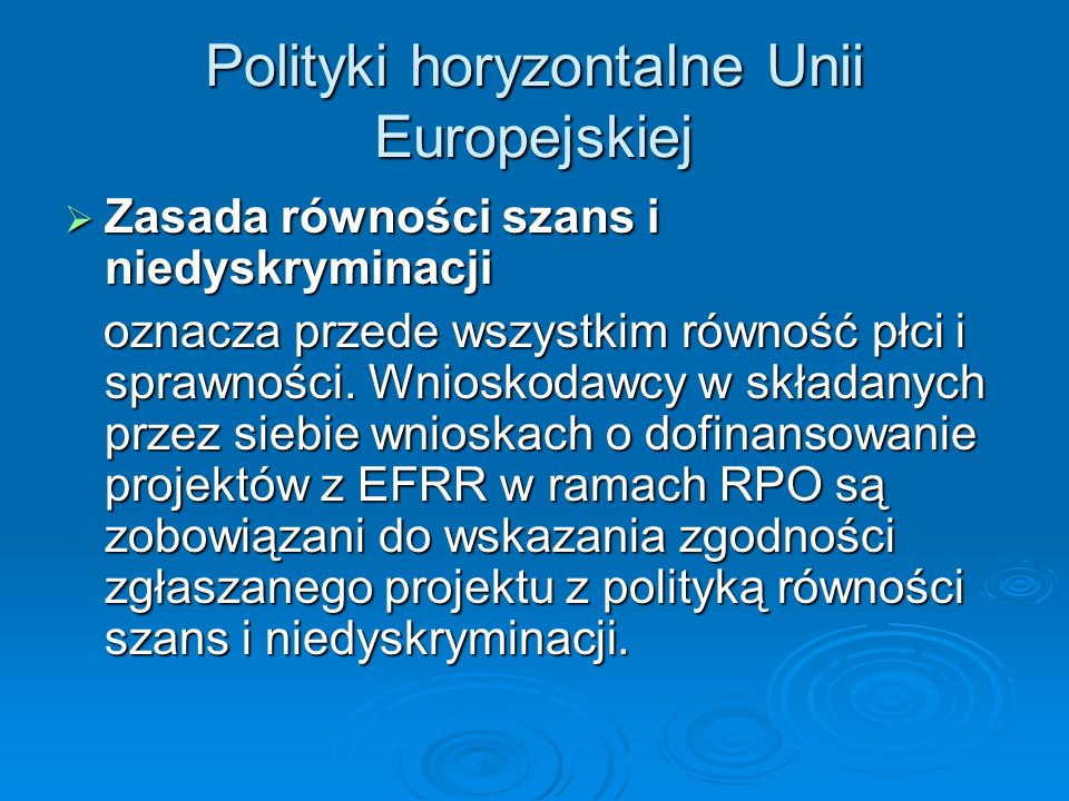 Polityki horyzontalne Unii Europejskiej