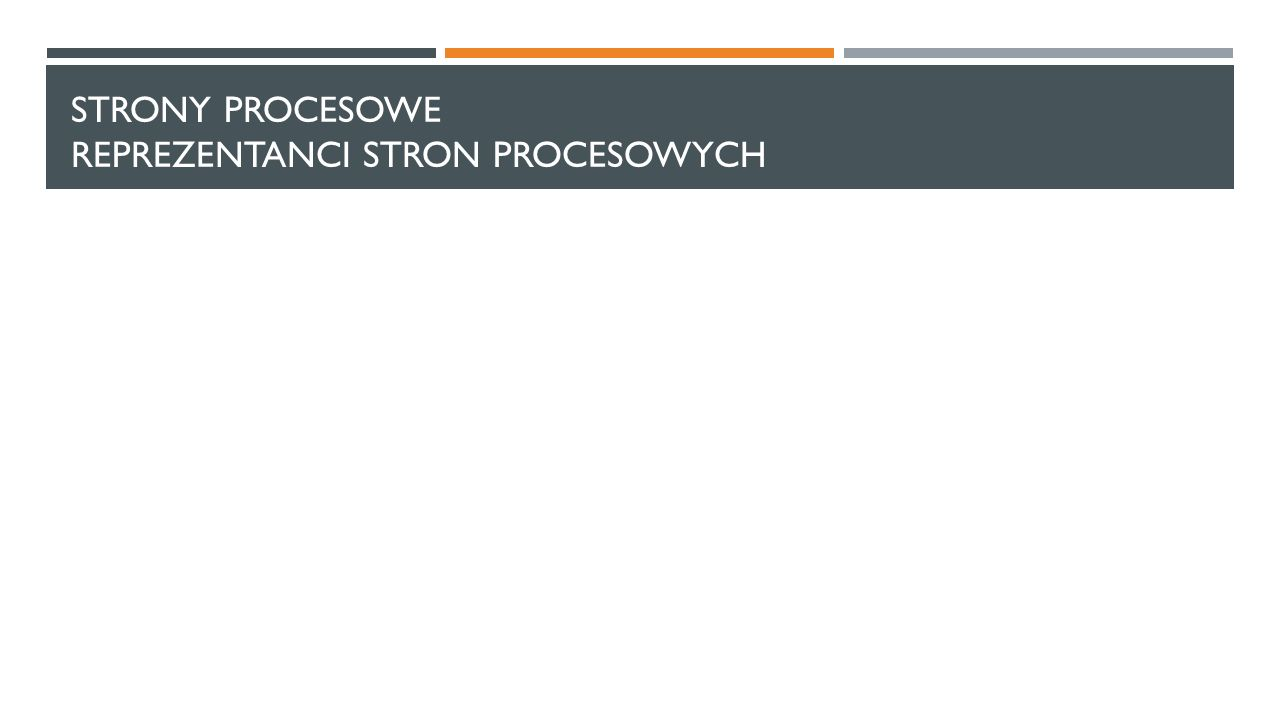 Strony procesowe reprezentanci stron procesowych