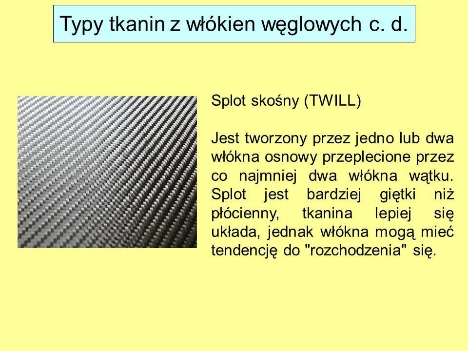 Typy tkanin z włókien węglowych c. d.
