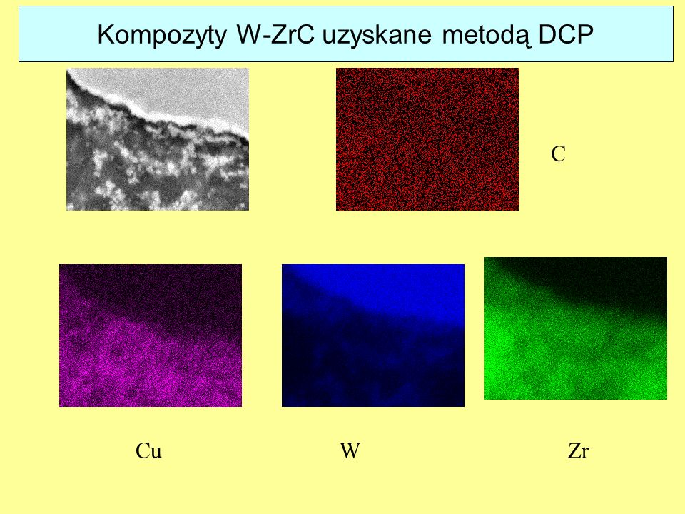 Kompozyty W-ZrC uzyskane metodą DCP