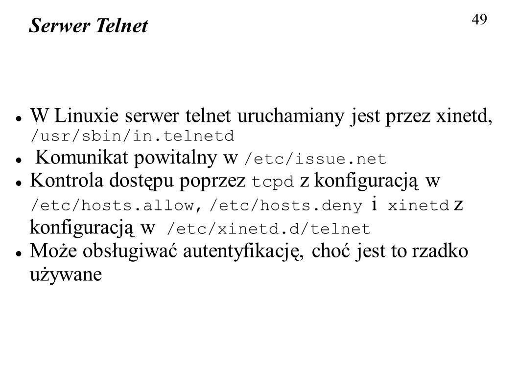 Komunikat powitalny w /etc/issue.net