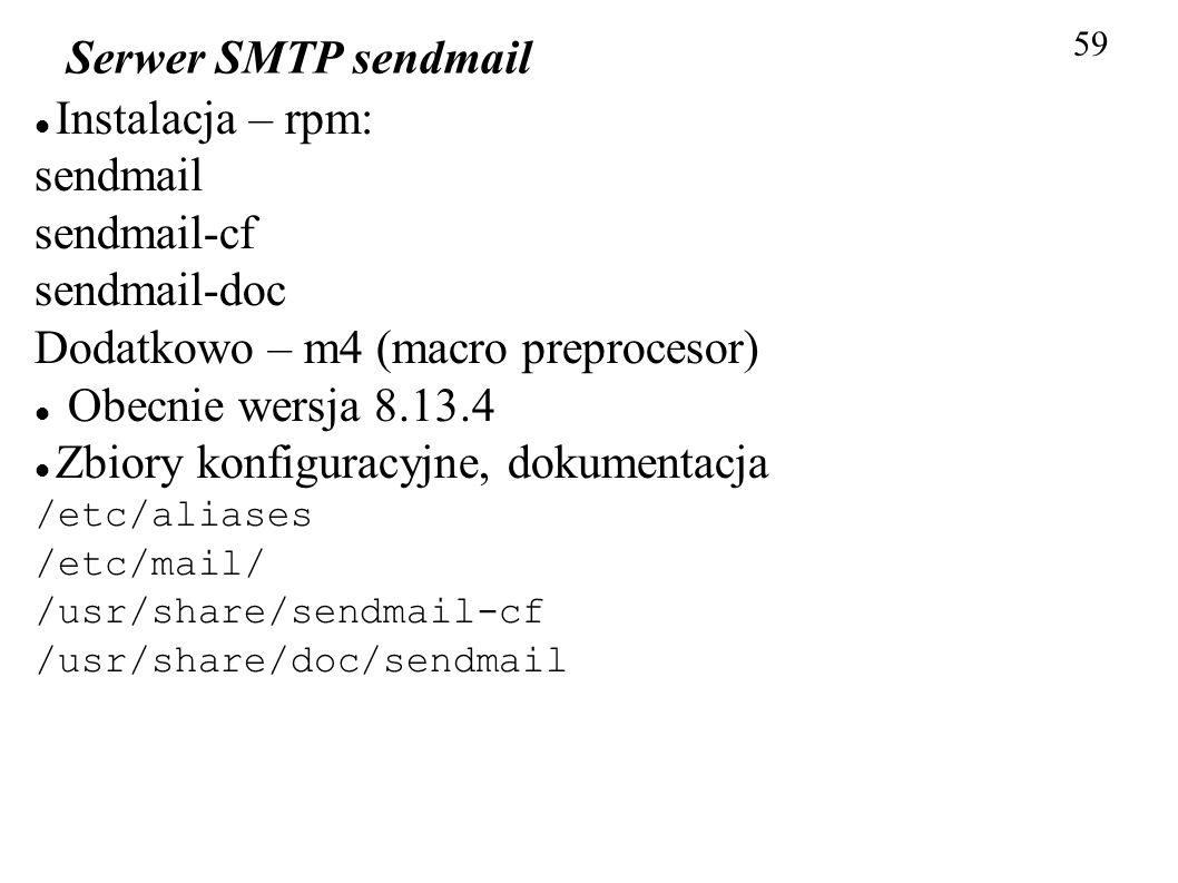 Dodatkowo – m4 (macro preprocesor) Obecnie wersja 8.13.4