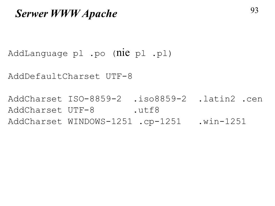Serwer WWW Apache AddLanguage pl .po (nie pl .pl)