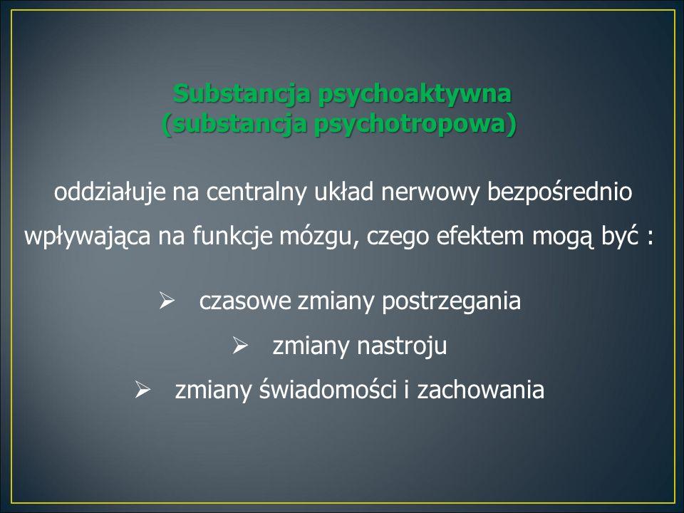 Substancja psychoaktywna (substancja psychotropowa)