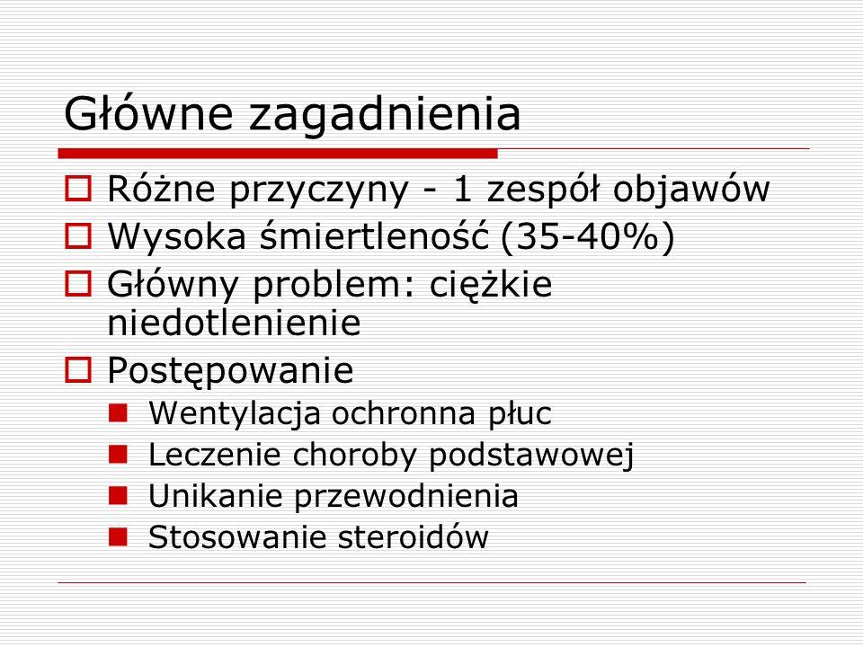Główne zagadnienia Różne przyczyny - 1 zespół objawów