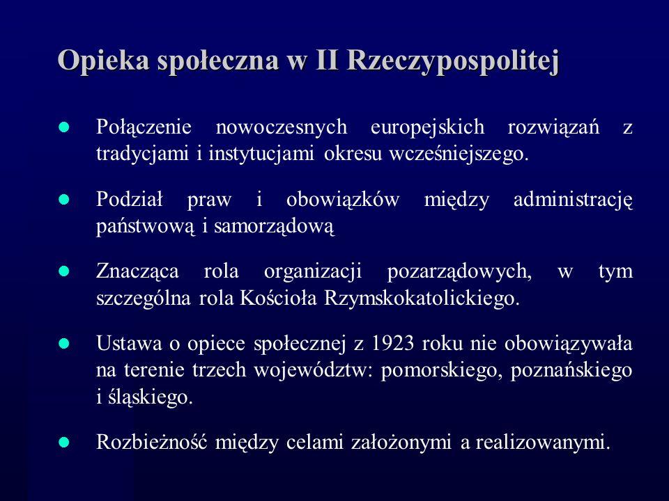 Opieka społeczna w II Rzeczypospolitej