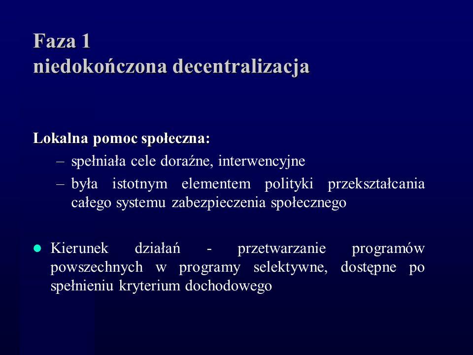 Faza 1 niedokończona decentralizacja