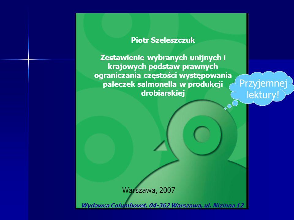 Wydawca Columbovet, 04-362 Warszawa, ul. Nizinna 12