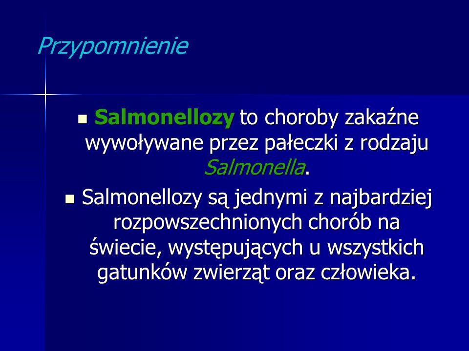Przypomnienie Salmonellozy to choroby zakaźne wywoływane przez pałeczki z rodzaju Salmonella.