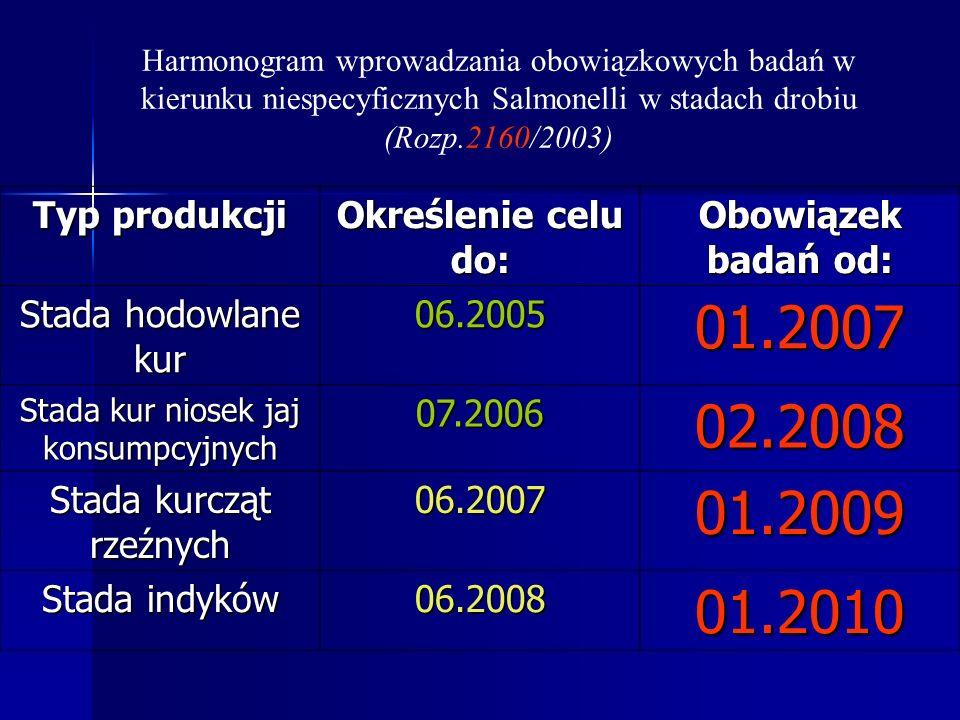 01.2007 02.2008 01.2009 01.2010 Typ produkcji Określenie celu do: