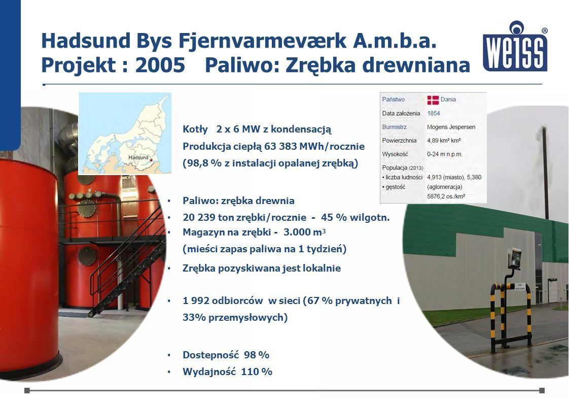 Hadsund Bys Fjernvarmeværk A. m. b. a. Projekt : 2005