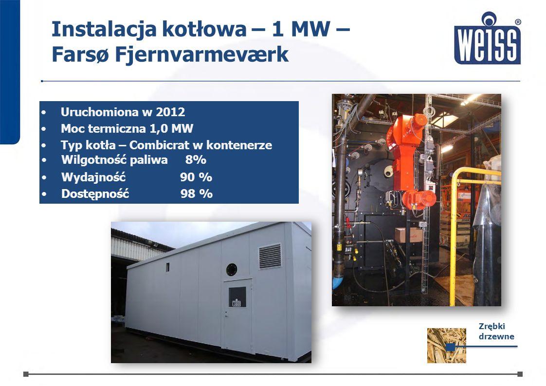 Instalacja kotłowa – 1 MW – Farsø Fjernvarmeværk