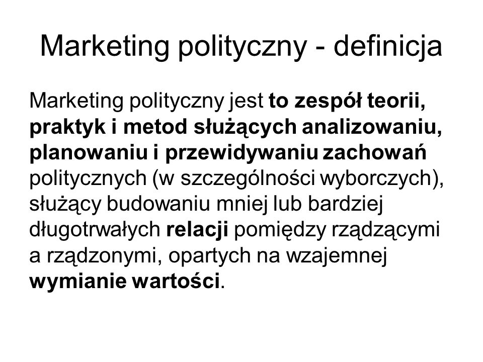 Marketing polityczny - definicja