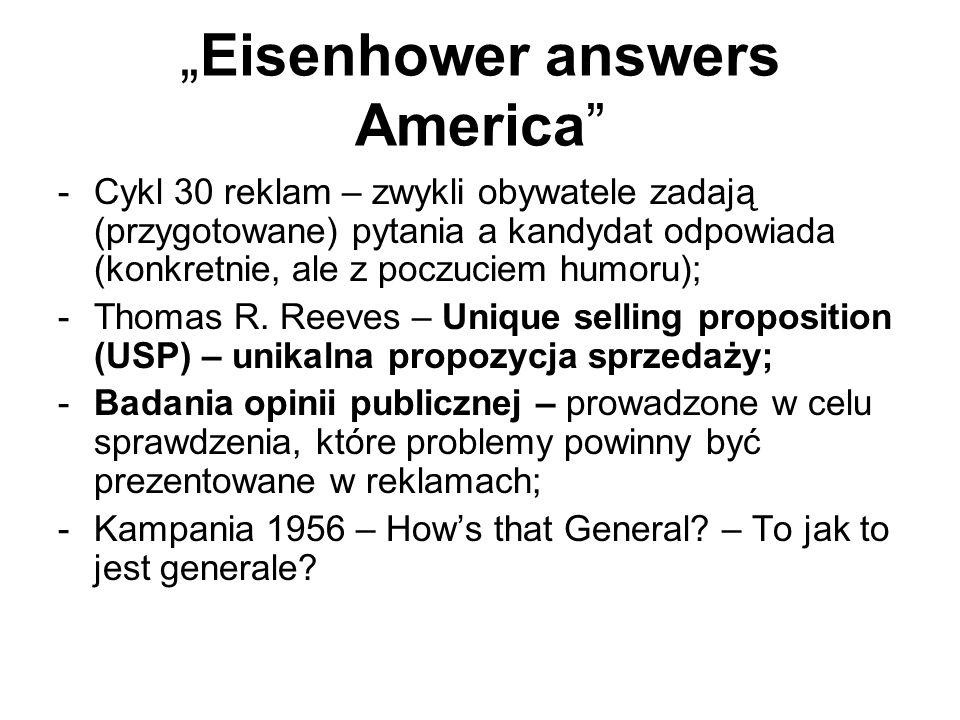 """Eisenhower answers America"