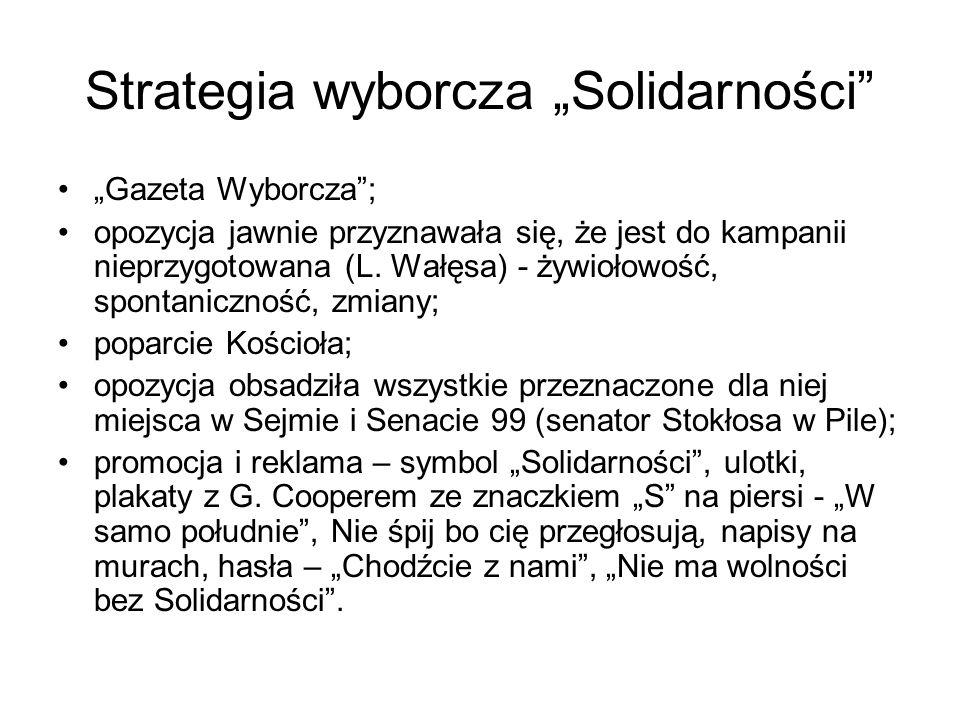 """Strategia wyborcza """"Solidarności"""