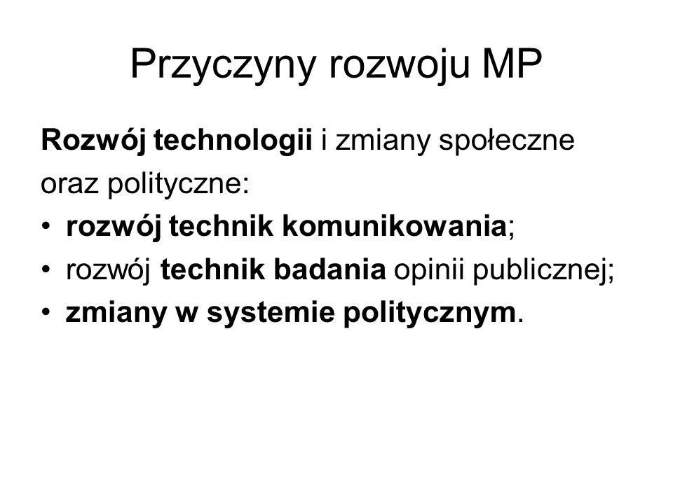 Przyczyny rozwoju MP Rozwój technologii i zmiany społeczne