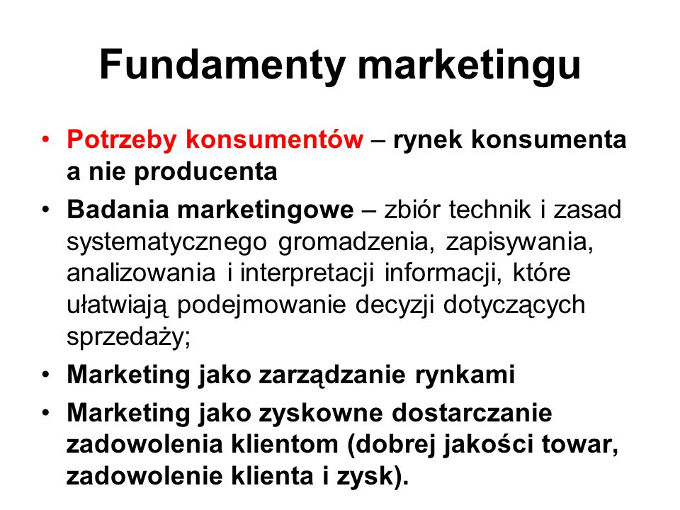 Fundamenty marketingu