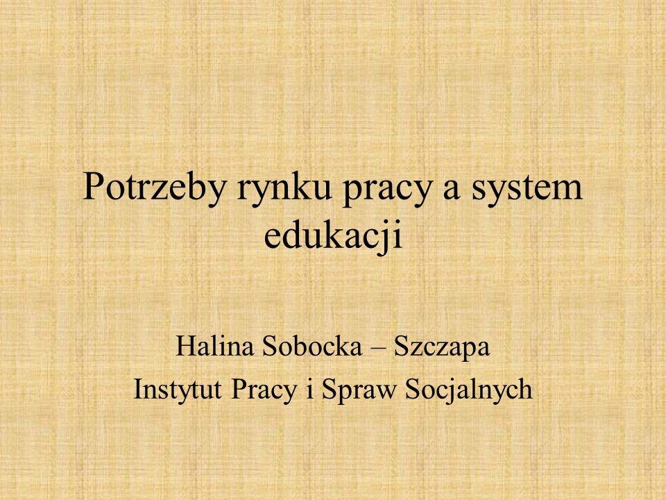 Potrzeby rynku pracy a system edukacji