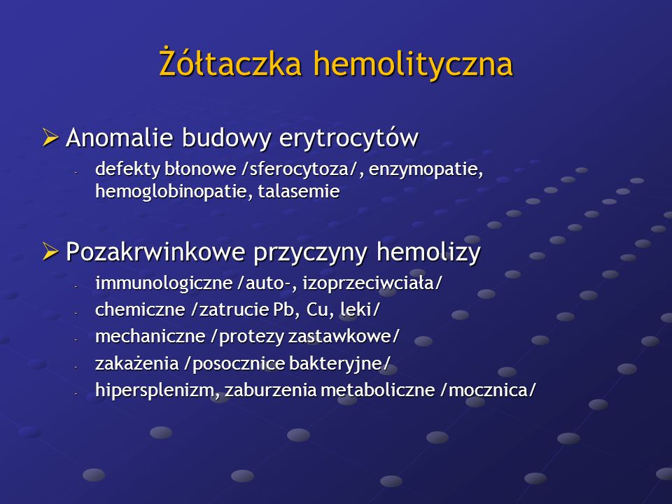 Żółtaczka hemolityczna
