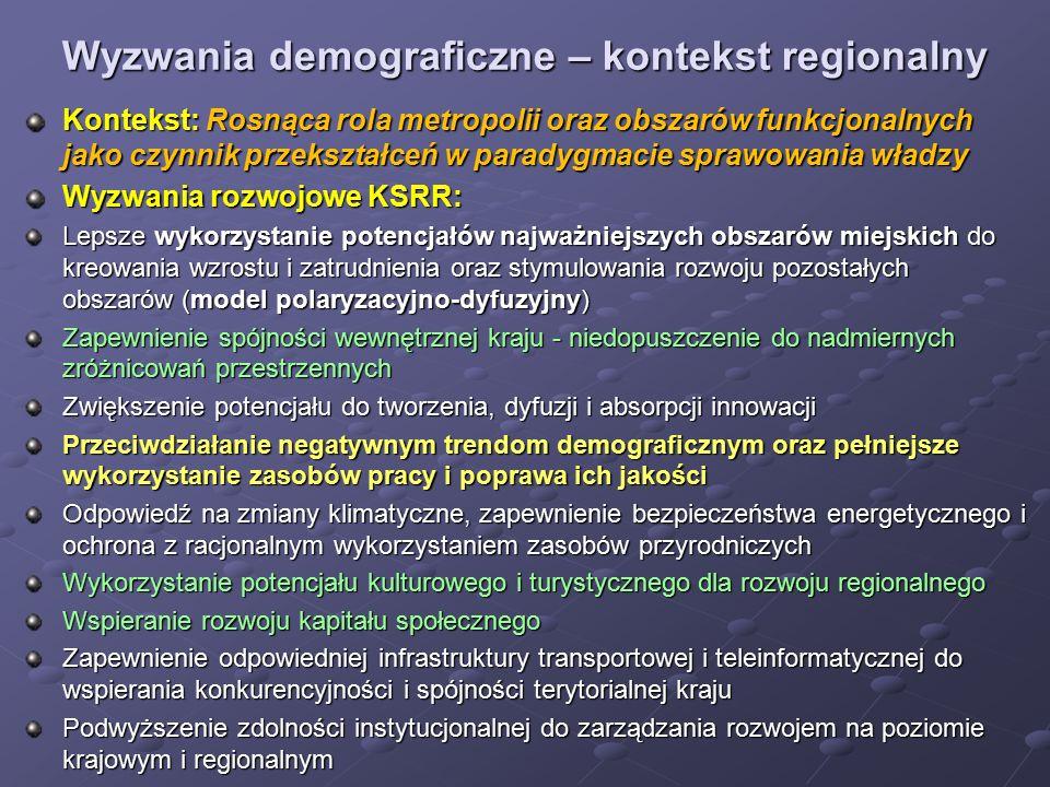Wyzwania demograficzne – kontekst regionalny