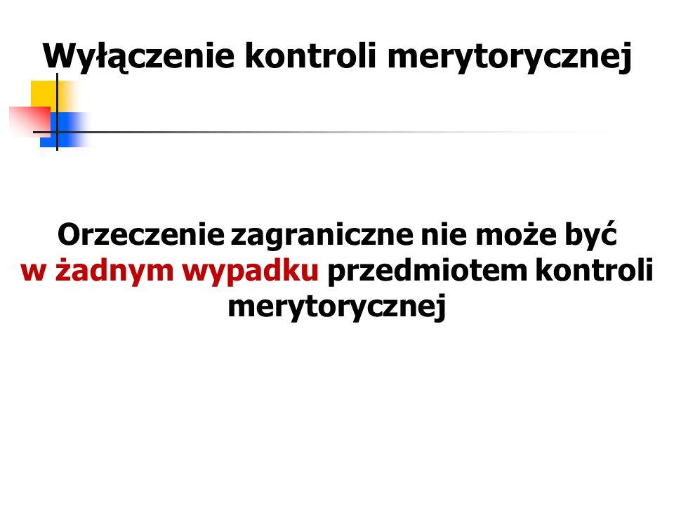 Wyłączenie kontroli merytorycznej