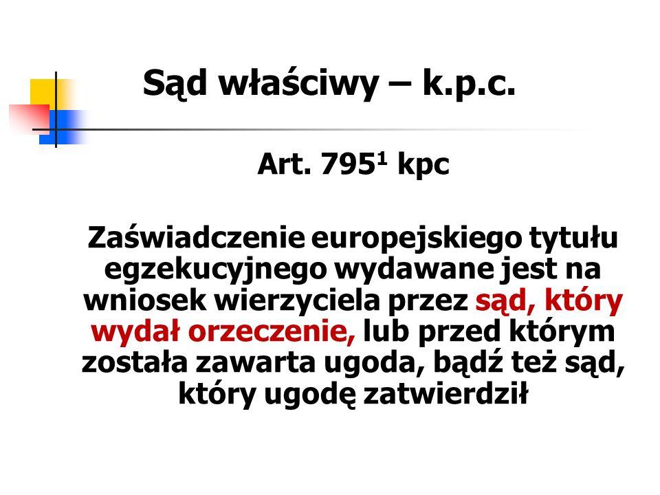 Sąd właściwy – k.p.c. Art. 7951 kpc