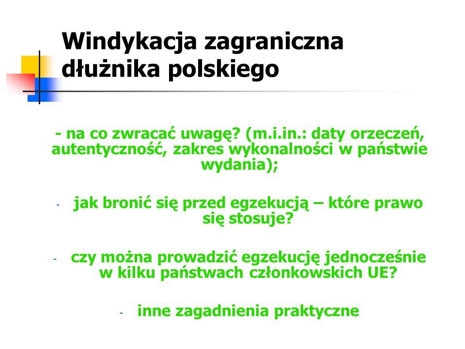 Windykacja zagraniczna dłużnika polskiego
