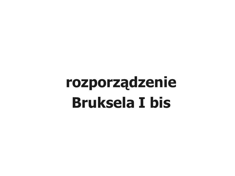 rozporządzenie Bruksela I bis