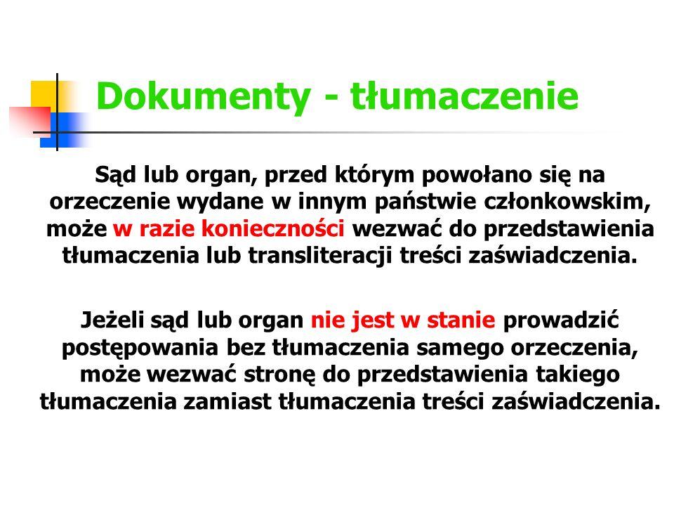 Dokumenty - tłumaczenie