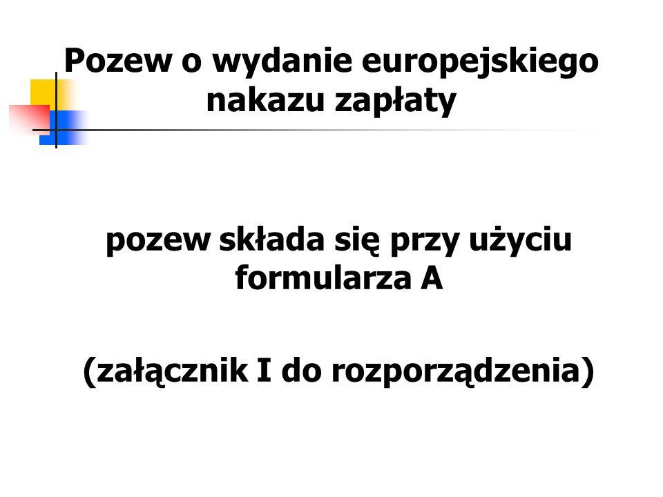 Pozew o wydanie europejskiego nakazu zapłaty