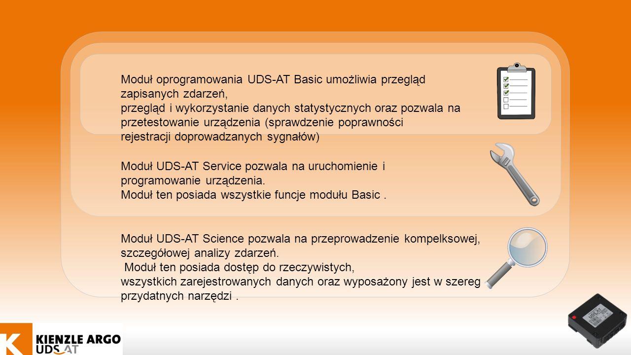 Moduł oprogramowania UDS-AT Basic umożliwia przegląd zapisanych zdarzeń,