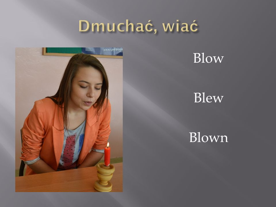 Dmuchać, wiać Blow Blew Blown