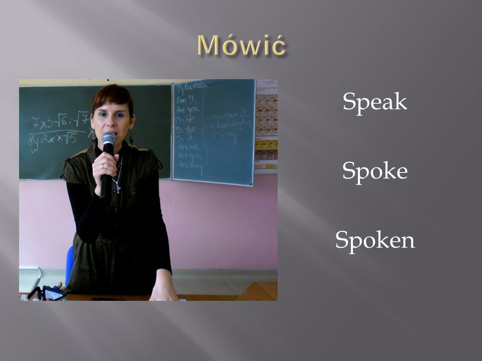 Mówić Speak Spoke Spoken