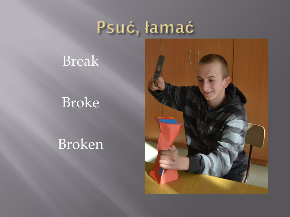 Psuć, łamać Break Broke Broken