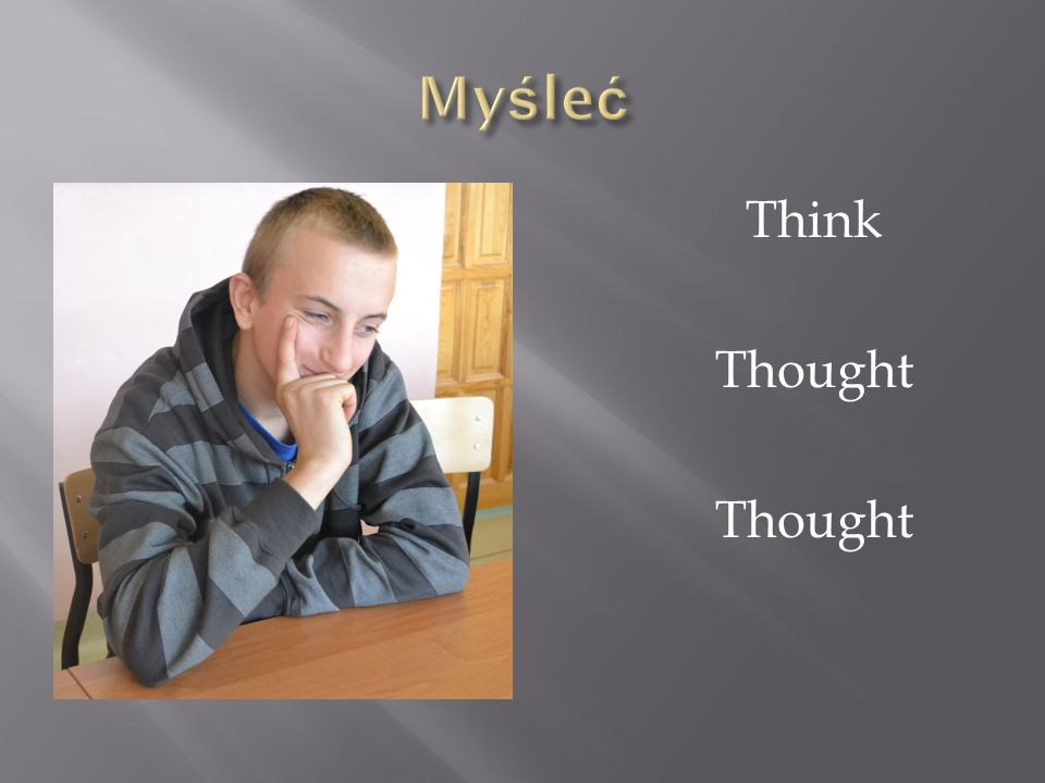 Myśleć Think Thought
