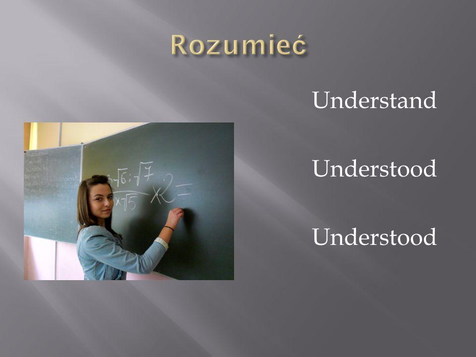 Rozumieć Understand Understood