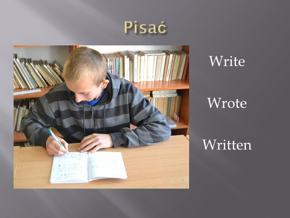 Pisać Write Wrote Written