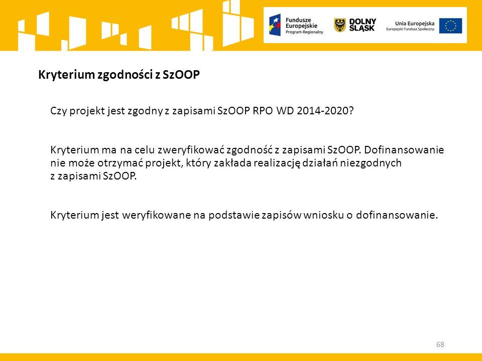 Kryterium zgodności z SzOOP