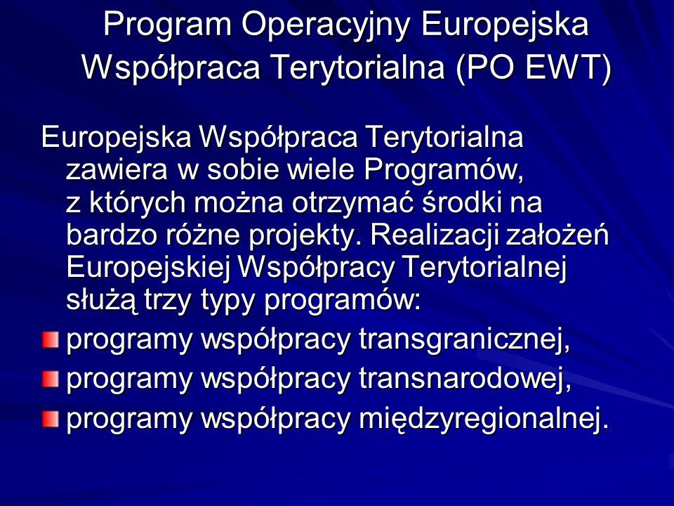 Program Operacyjny Europejska Współpraca Terytorialna (PO EWT)