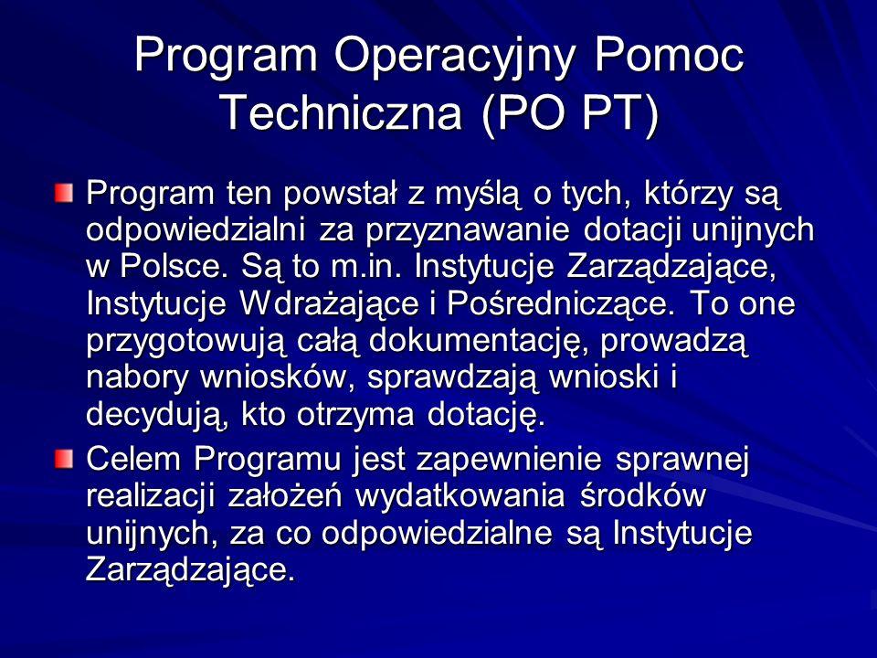 Program Operacyjny Pomoc Techniczna (PO PT)