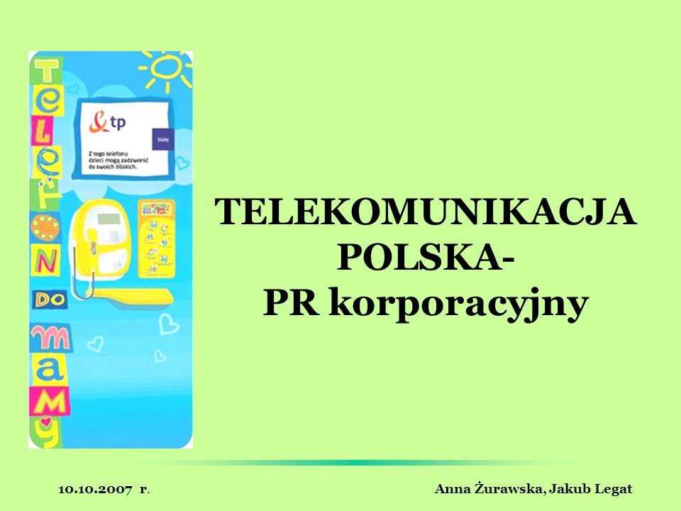 TELEKOMUNIKACJA POLSKA- PR korporacyjny
