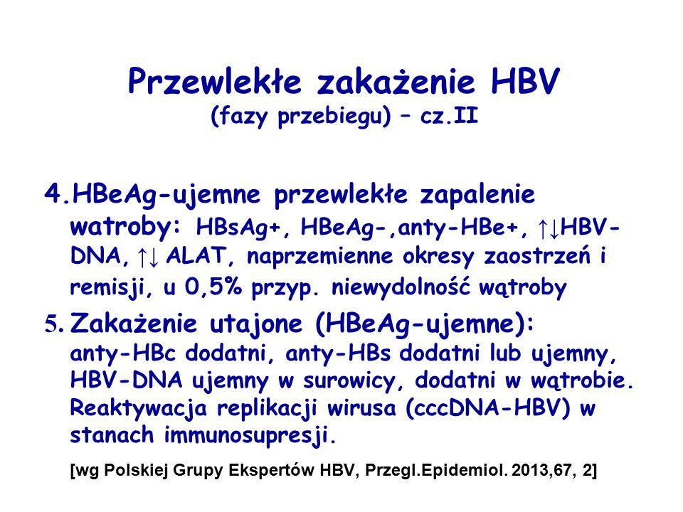 Przewlekłe zakażenie HBV (fazy przebiegu) – cz.II