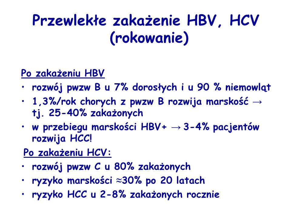 Przewlekłe zakażenie HBV, HCV (rokowanie)