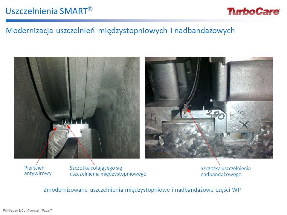 Uszczelnienia SMART® Modernizacja uszczelnień międzystopniowych i nadbandażowych. Pierścień antywirowy.