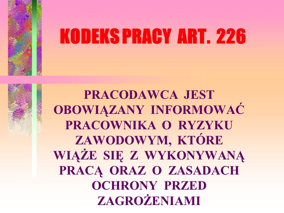 KODEKS PRACY ART. 226