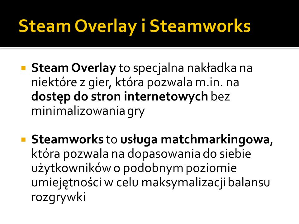 Steam Overlay i Steamworks