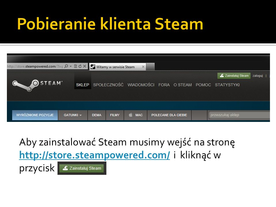 Pobieranie klienta Steam