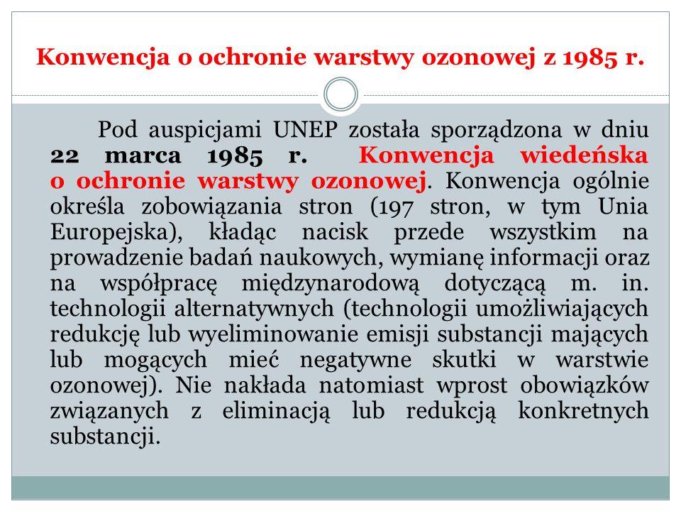 Konwencja o ochronie warstwy ozonowej z 1985 r.